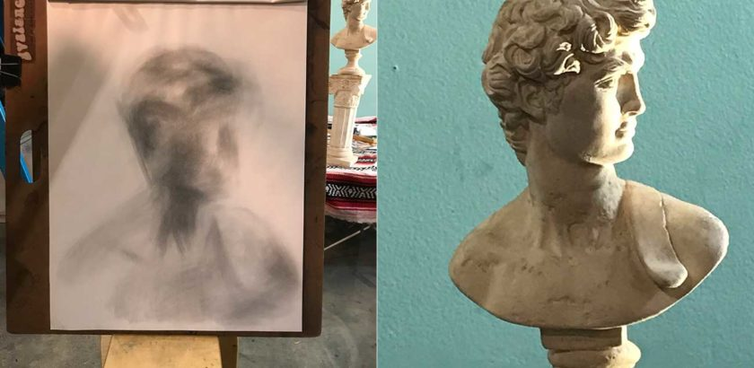 Charcoal and Classical Bust