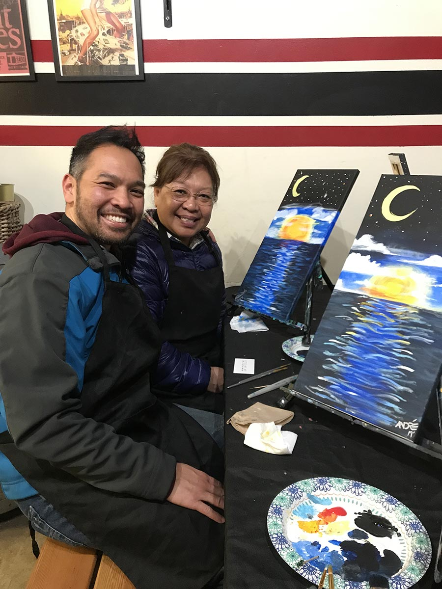 Mom and Me Birthday Painting Session
