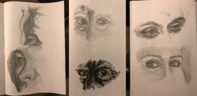 Nose and Eyes Sketches