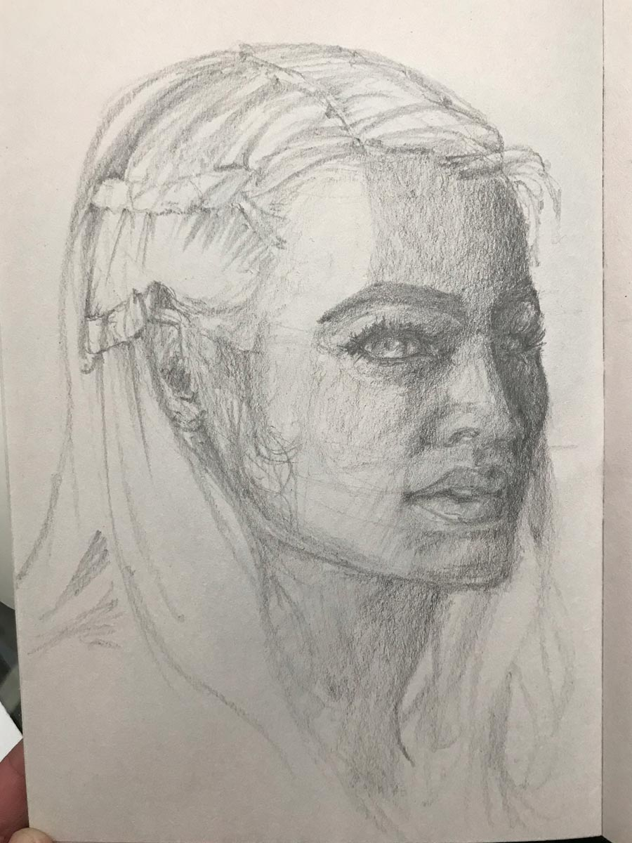 30-Day Sketches, Khaleesi Cosplayer