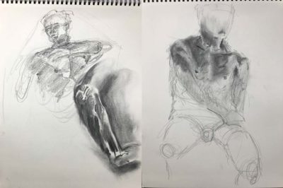 Live Model Male Sketches